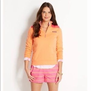 Vineyard Vines Orange and Pink Shep Shirt Tropical